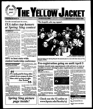 Primary view of object titled 'The Yellow Jacket (Brownwood, Tex.), Vol. 90, No. 19, Ed. 1, Thursday, March 23, 2000'.