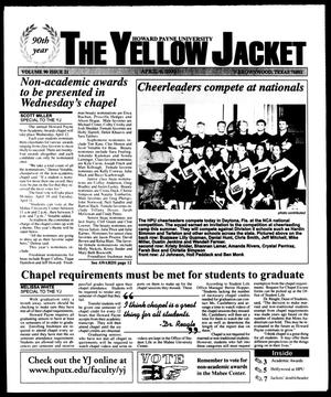 Primary view of object titled 'The Yellow Jacket (Brownwood, Tex.), Vol. 90, No. 21, Ed. 1, Thursday, April 6, 2000'.