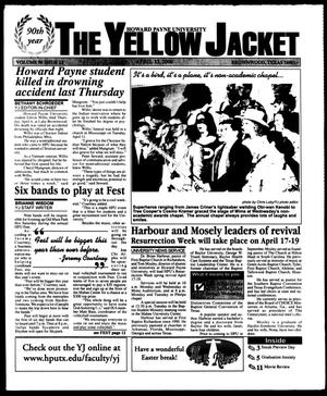 Primary view of object titled 'The Yellow Jacket (Brownwood, Tex.), Vol. 90, No. 22, Ed. 1, Thursday, April 13, 2000'.