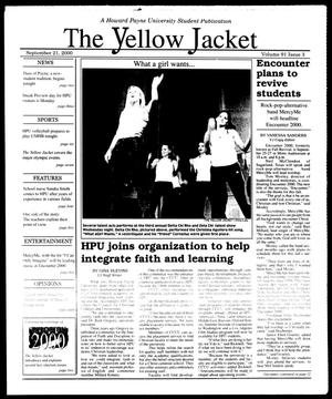 Primary view of object titled 'The Yellow Jacket (Brownwood, Tex.), Vol. 91, No. 3, Ed. 1, Thursday, September 21, 2000'.