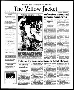 Primary view of object titled 'The Yellow Jacket (Brownwood, Tex.), Vol. 91, No. 4, Ed. 1, Thursday, September 28, 2000'.