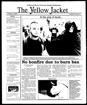 Primary view of object titled 'The Yellow Jacket (Brownwood, Tex.), Vol. 91, No. 5, Ed. 1, Thursday, October 5, 2000'.