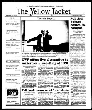 Primary view of object titled 'The Yellow Jacket (Brownwood, Tex.), Vol. 91, No. 7, Ed. 1, Thursday, October 19, 2000'.