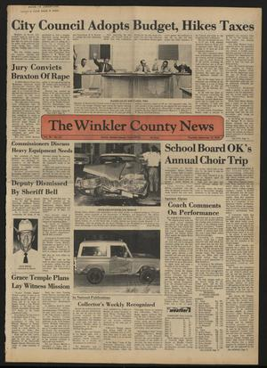 Primary view of object titled 'The Winkler County News (Kermit, Tex.), Vol. 38, No. 51, Ed. 1 Thursday, September 12, 1974'.