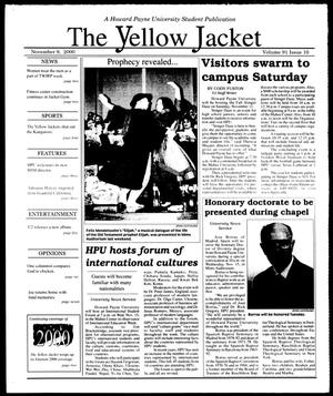 Primary view of object titled 'The Yellow Jacket (Brownwood, Tex.), Vol. 91, No. 10, Ed. 1, Thursday, November 9, 2000'.