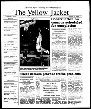 Primary view of object titled 'The Yellow Jacket (Brownwood, Tex.), Vol. 91, No. 13, Ed. 1, Thursday, February 1, 2001'.