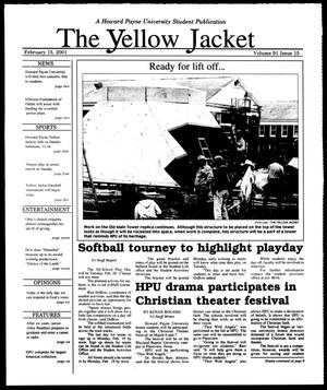 Primary view of object titled 'The Yellow Jacket (Brownwood, Tex.), Vol. 91, No. 15, Ed. 1, Thursday, February 15, 2001'.