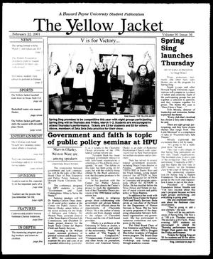 Primary view of object titled 'The Yellow Jacket (Brownwood, Tex.), Vol. 91, No. 16, Ed. 1, Thursday, February 22, 2001'.