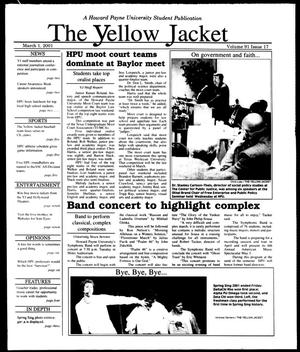 Primary view of object titled 'The Yellow Jacket (Brownwood, Tex.), Vol. 91, No. 17, Ed. 1, Thursday, March 1, 2001'.