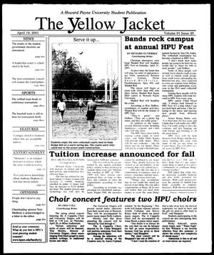 Primary view of object titled 'The Yellow Jacket (Brownwood, Tex.), Vol. 91, No. 21, Ed. 1, Thursday, April 19, 2001'.