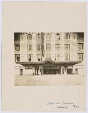 Primary view of object titled '[Exterior of Majestic Theatre]'.