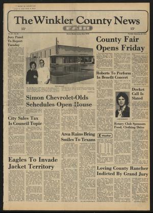 Primary view of object titled 'The Winkler County News (Kermit, Tex.), Vol. 38, No. 55, Ed. 1 Thursday, September 26, 1974'.