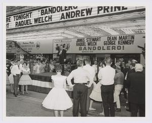 "Primary view of object titled '[Cactus Pryor on stage at the world premiere of ""Bandolero""]'."