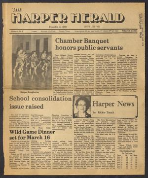 Primary view of object titled 'The Harper Herald (Harper, Tex.), Vol. 61, No. 8, Ed. 1 Friday, February 22, 1985'.