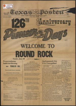 Texas Posten (Austin, Tex.), Vol. 69, No. 25, Ed. 1 Thursday, June 18, 1964