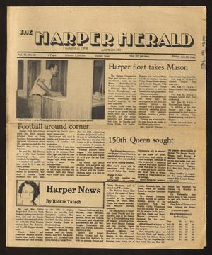 Primary view of object titled 'The Harper Herald (Harper, Tex.), Vol. 61, No. 30, Ed. 1 Friday, July 26, 1985'.