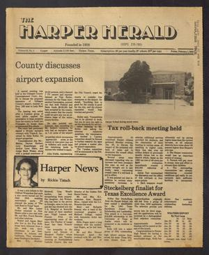 Primary view of object titled 'The Harper Herald (Harper, Tex.), Vol. 61, No. 5, Ed. 1 Friday, February 1, 1985'.