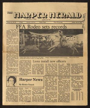 Primary view of object titled 'The Harper Herald (Harper, Tex.), Vol. 61, No. 29, Ed. 1 Friday, July 19, 1985'.