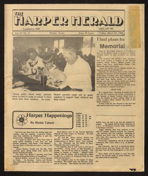 Primary view of object titled 'The Harper Herald (Harper, Tex.), Vol. 64, No. 12, Ed. 1 Friday, March 25, 1988'.
