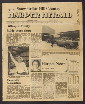 Primary view of object titled 'The Harper Herald (Harper, Tex.), Vol. 61, No. [3], Ed. 1 Friday, January 18, 1985'.