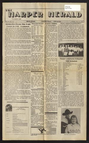 Primary view of object titled 'The Harper Herald (Harper, Tex.), Vol. 68, No. 113, Ed. 1 Tuesday, July 16, 1996'.