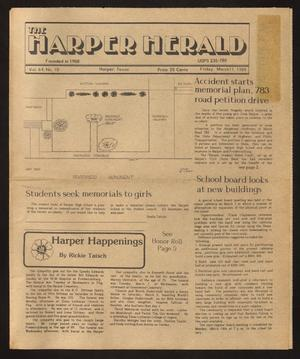 Primary view of object titled 'The Harper Herald (Harper, Tex.), Vol. 64, No. 10, Ed. 1 Friday, March 11, 1988'.