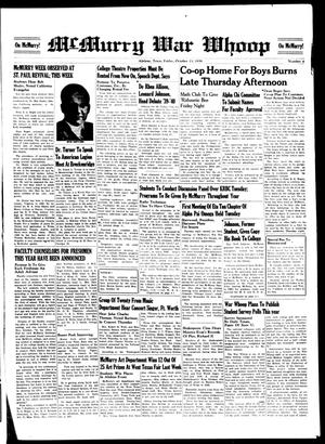 McMurry War Whoop (Abilene, Tex.), No. 4, Ed. 1, Friday, October 13, 1939