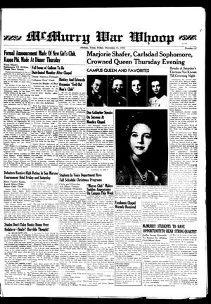 McMurry War Whoop (Abilene, Tex.), No. 12, Ed. 1, Friday, December 15, 1939