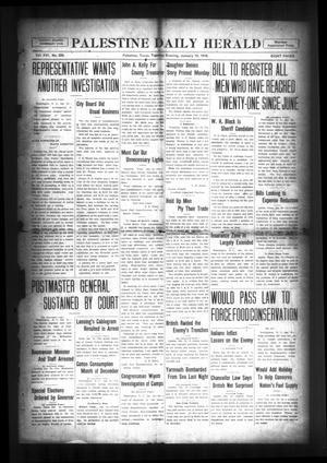 Palestine Daily Herald (Palestine, Tex), Vol. 16, No. 226, Ed. 1 Tuesday, January 15, 1918