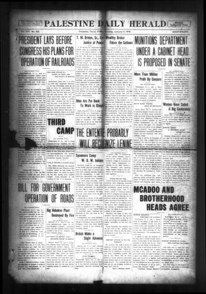 Primary view of object titled 'Palestine Daily Herald (Palestine, Tex), Vol. 16, No. 223, Ed. 1 Friday, January 4, 1918'.