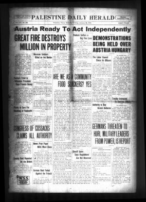 Palestine Daily Herald (Palestine, Tex), Vol. 16, No. 242, Ed. 1 Saturday, January 26, 1918