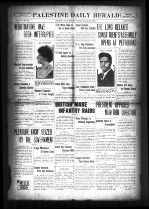 Palestine Daily Herald (Palestine, Tex), Vol. 16, No. 230, Ed. 1 Saturday, January 19, 1918
