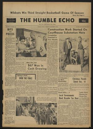 Primary view of object titled 'The Humble Echo (Humble, Tex.), Vol. 22, No. 49, Ed. 1 Thursday, December 5, 1963'.