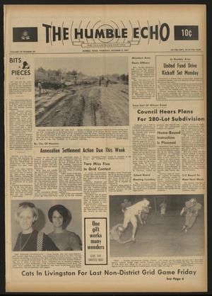 The Humble Echo (Humble, Tex.), Vol. 28, No. 40, Ed. 1 Thursday, October 5, 1967