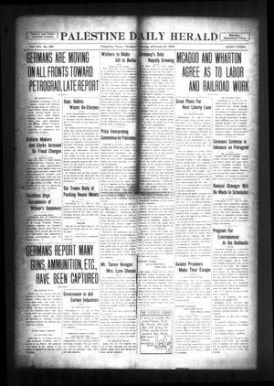 Palestine Daily Herald (Palestine, Tex), Vol. 16, No. 264, Ed. 1 Thursday, February 21, 1918
