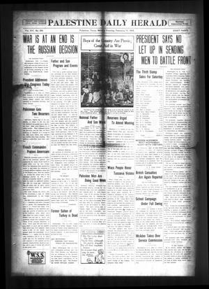 Palestine Daily Herald (Palestine, Tex), Vol. 16, No. 255, Ed. 1 Monday, February 11, 1918