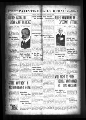 Palestine Daily Herald (Palestine, Tex), Vol. 16, No. 237, Ed. 1 Monday, January 21, 1918