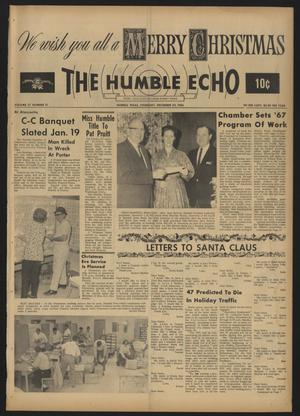 Primary view of object titled 'The Humble Echo (Humble, Tex.), Vol. 27, No. 51, Ed. 1 Thursday, December 22, 1966'.