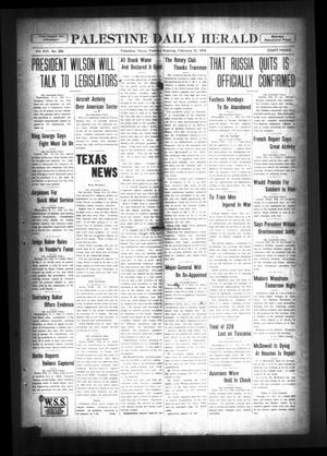Palestine Daily Herald (Palestine, Tex), Vol. 16, No. 256, Ed. 1 Tuesday, February 12, 1918