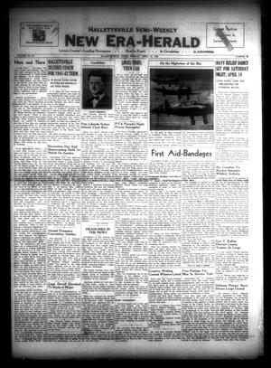 Primary view of object titled 'Hallettsville Semi-Weekly New Era-Herald (Hallettsville, Tex.), Vol. 69, No. 45, Ed. 1 Tuesday, April 14, 1942'.