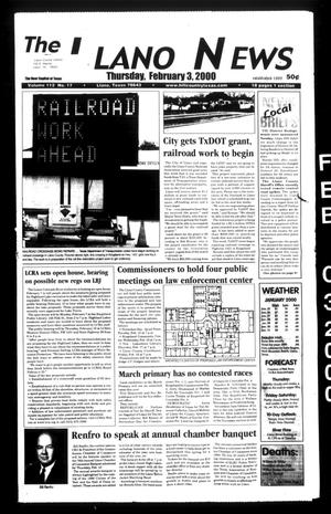 Primary view of object titled 'The Llano News (Llano, Tex.), Vol. 112, No. 17, Ed. 1 Thursday, February 3, 2000'.
