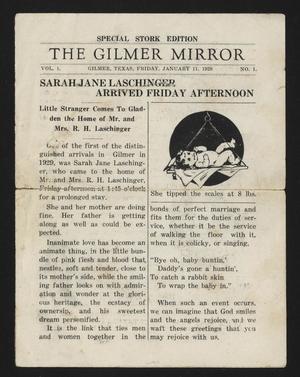 The Gilmer Mirror (Gilmer, Tex.), Vol. 1, No. 1, Ed. 1 Friday, January 11, 1929