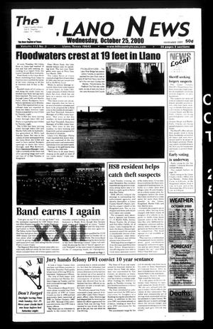 Primary view of object titled 'The Llano News (Llano, Tex.), Vol. 113, No. 3, Ed. 1 Wednesday, October 25, 2000'.