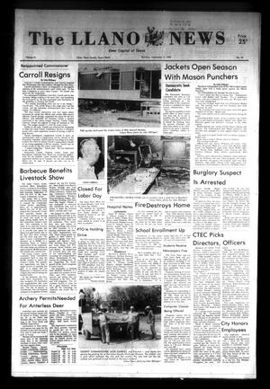 Primary view of object titled 'The Llano News (Llano, Tex.), Vol. 91, No. 44, Ed. 1 Thursday, September 2, 1982'.