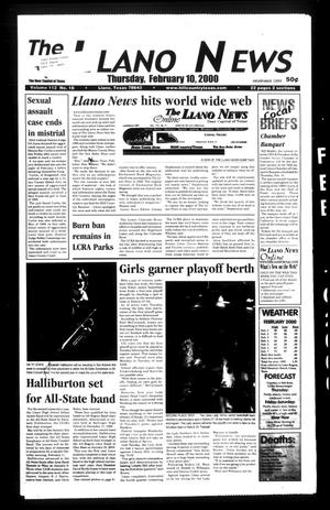 Primary view of object titled 'The Llano News (Llano, Tex.), Vol. 112, No. 18, Ed. 1 Thursday, February 10, 2000'.