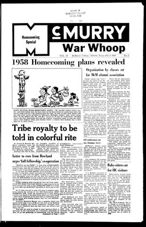 The War Whoop (Abilene, Tex.), Vol. 36, No. 5, Ed. 1, Wednesday, October 8, 1958