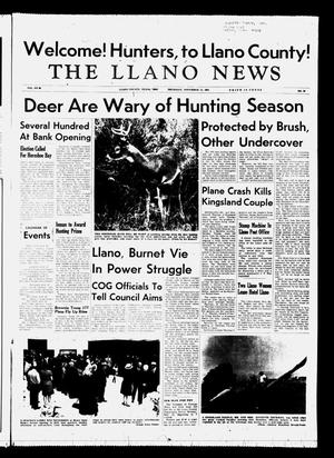 Primary view of object titled 'The Llano News (Llano, Tex.), Vol. 80, No. 52, Ed. 1 Thursday, November 11, 1971'.