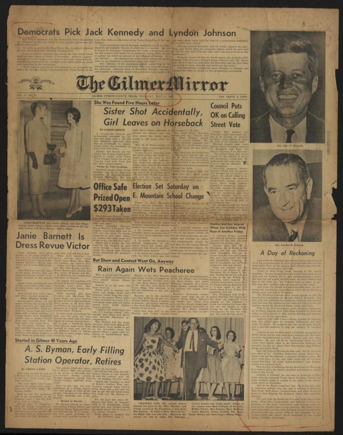 The Gilmer Mirror (Gilmer, Tex ), Vol  33, No  29, Ed  1