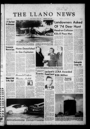 Primary view of object titled 'The Llano News (Llano, Tex.), Vol. 84, No. 38, Ed. 1 Thursday, July 31, 1975'.
