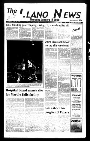 Primary view of object titled 'The Llano News (Llano, Tex.), Vol. 112, No. 14, Ed. 1 Thursday, January 13, 2000'.